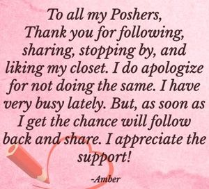 To all my Poshers